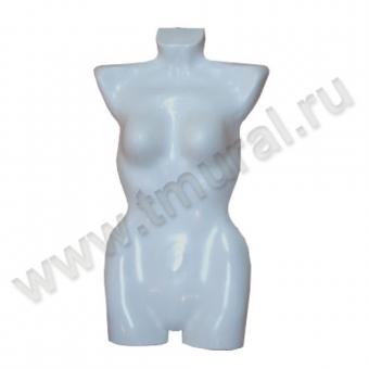 00007223 - М-104К Манекен-торс женский-навесная форма пластик, белый