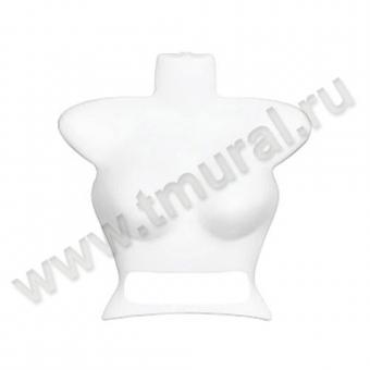 00013114 - М-112-Ч Манекен-бюст женский пластик, белый