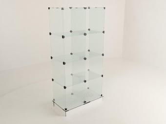 1 - Прилавок стеклянный (8 ячеек) 1680*450*900 бук
