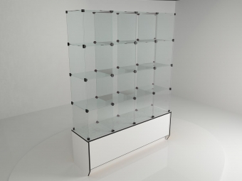 14 - Подиум 1680х450х540мм бел/черн