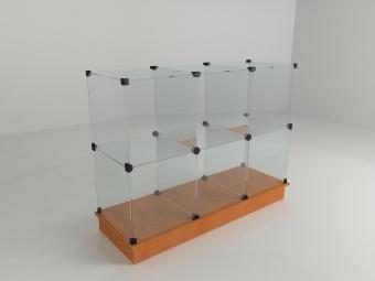 17 - Прилавок стеклянный (8 ячеек) 1680*450*900 бук