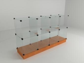 19 - Прилавок стеклянный (8 ячеек) 1680*450*900 бук