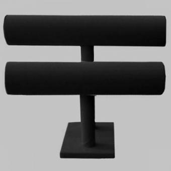 2 500x500 - ПБ-08/1 Подставка под браслеты, два яруса черный бархат малая