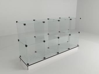 20 - Витрина стеклянная (12 ячеек) 1260*450*1750 бук