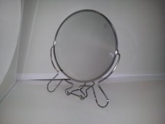 """20131120 095518 - Зеркало настольное металл 5"""" двухстороннее"""