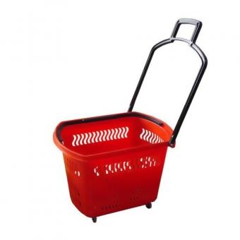 2c1751fbac6ae90bc687e218f596d219 - PBT30 Корзина пластиковая на колёсах 30л, красная