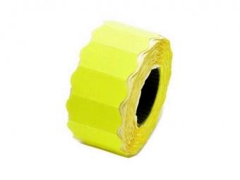 2jo - 26*12 этикет-лента желтая большая волна, 700 этикеток