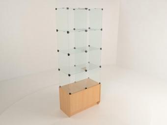 3 - Прилавок стеклянный (8 ячеек) 1680*450*900 бук