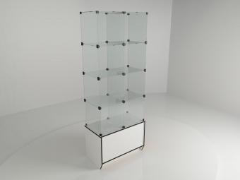 4 - Витрина стеклянная (12 ячеек) 1260*450*1750 бук