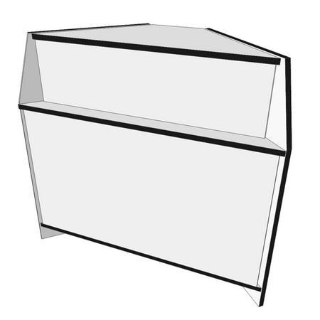 546 - ПУНс Прилавок угловой наружный ДСП 550 белый/черный