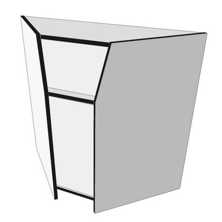 67 - ПУВс Прилавок угловой внутренний ПОСТФОРМИНГ 550 белый/черный