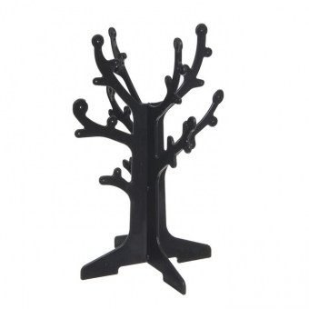 """70002 - Подставка под серьги """"Дерево"""" 16,5*16,5*24,5, черный"""