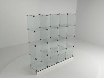 8 - Прилавок стеклянный (8 ячеек) 1680*450*900 бук