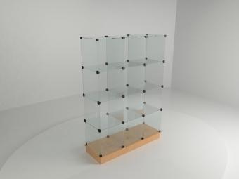 9 - Витрина стеклянная (12 ячеек) 1260*450*1750 бук