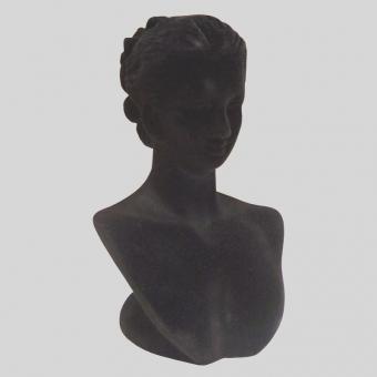 bizhuteriya golova - ПБ-12 Подставка-манекен под бижутер, черный бархат
