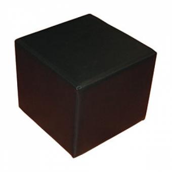 chernyy kub - Банкетка Куб 350*350*350,винил, черный