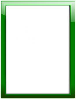 glass frame green vertical - Рамка формата А4 зеленая