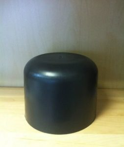 kolpak 253x300 - В-216 Вешалка черная с металл. крючком, 450мм