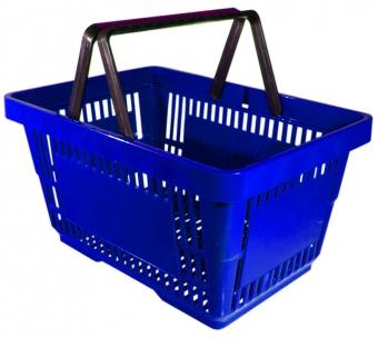 korzinna - Корзина покупат.плстик (20 л,, 2 ручки) синий А