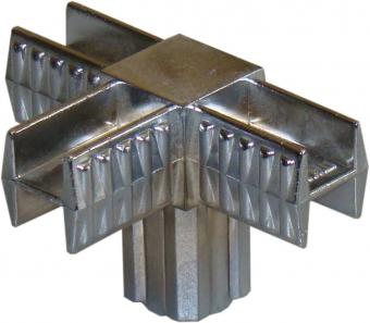 pr 2 - 2 Крепеж 4-х направленный 25х25 (хром)