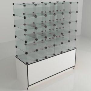 Витрины стеклянные (ячейковые)