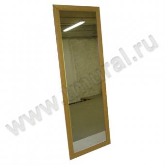 zerkalo navesnoe buk - Зеркало навесное 1590х566 в раме МДФ бук